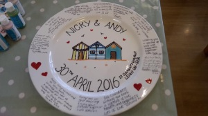 Glazed and with messages from wedding guests