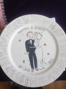 Signature Plate - what better way to capture a group gift.