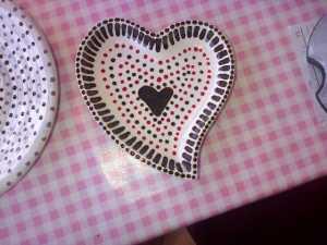 detailed heart dish