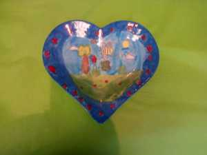 new style heart plate